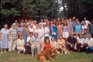 Gathering at Beth Hapgood's in memory of Elwood Babbitt who passed into spirit previous April