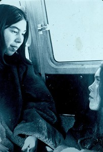 Annette Laufe and Patty Smith in van