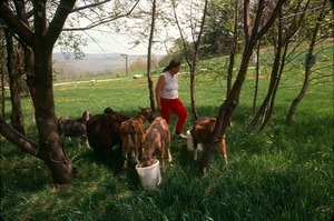 Joanne Santos with goats