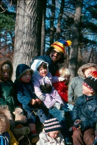Nursery outing; kids with Larry Raffel