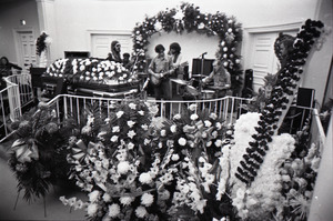 Duane Allman's funeral: Allman Brothers Band playing, from left: Barry Oakley, Jaimoe, Dickey Betts, Butch Trucks, and Thom Doucette