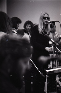 Duane Allman's funeral: Gregg Allman performing with Dr. John in the foreground