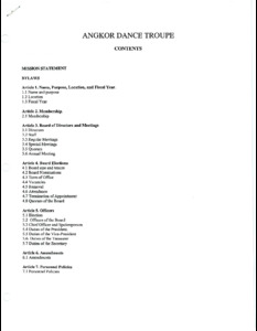 Angkor Dance Troupe board of directors governing documents, [2002]