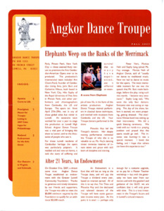 Angkor Dance Troupe Fall 2007 newsletter