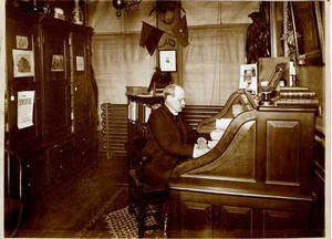 Robert R. McBurney in his 23rd Street YMCA Office, c. 1896