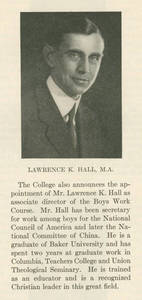 Lawrence K. Hall Faculty Announcement