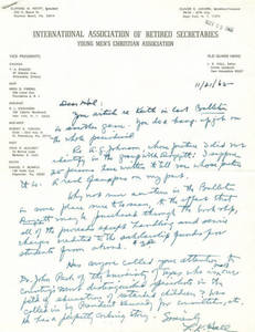 L.K. Hall Correspondance to Harold Lynch
