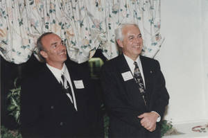 Bob Hoffman and Barry Weinberg, 1998 Tarbell Award Induction Dinner