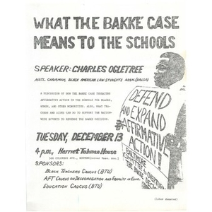 What the Bakke case means to schools.