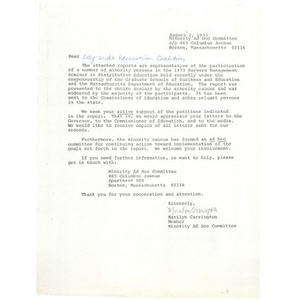 Letter, Citywide Educational Coalition, August 2, 1973.