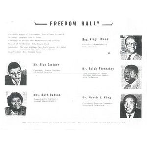 Freedom Rally pamphlet.