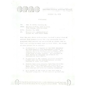 Memo, request for modification of August 24, 1976 court order.