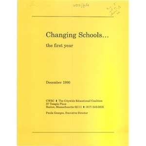 Changing schools...the first year.