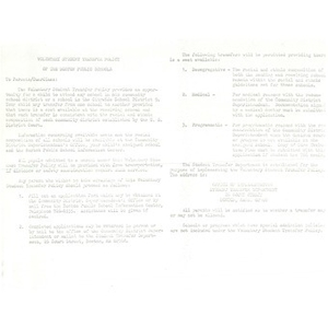 Voluntary student transfer policy of the Boston Public Schools.