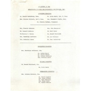Committees of the Metropolitan Council for Educational Opportunity, Inc.