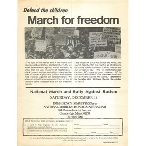 Defend the children march for freedom.