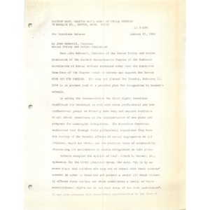 Press release, January 27, 1964.