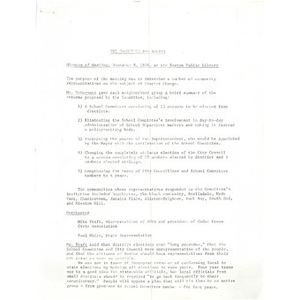 Committee for Boston minutes of meeting, November 8, 1976, Boston Public Library.