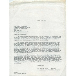 Letter, Dr. Louis Simmonini, June 13, 1975.