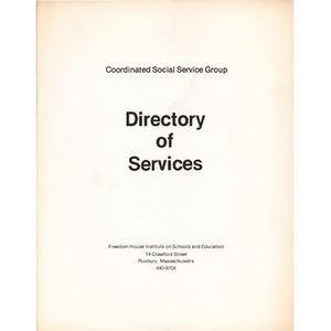 Directory of services.