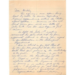 Letter, Marion Fahey.
