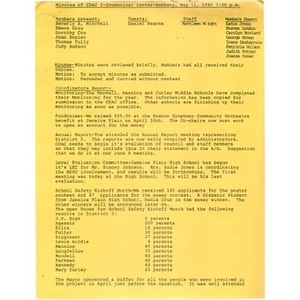 Minutes of CDAC 2, May 11, 1982.