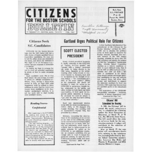 Citizens for the Boston Schools Bulletin, February, 1967.