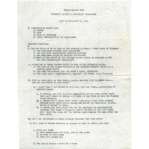 Memo on tape with Dr. King.