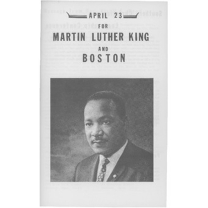 April 23 for Martin Luther King and Boston.