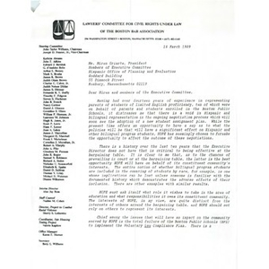 Letter, executive members of Hispanic Office of Planning and Evaluation, March 18, 1989.