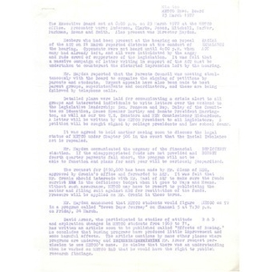 Meeting minutes, METCO executive board, March 23, 1972.