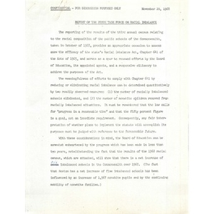 Report of the state task force on racial imbalance, November 20, 1968.