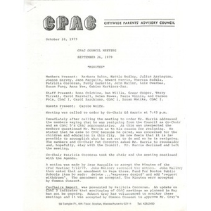 CPAC council meeting September 26, 1979.