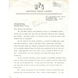 Letter, Carmen Pola and Barbara Meyers, December 4, 1980.