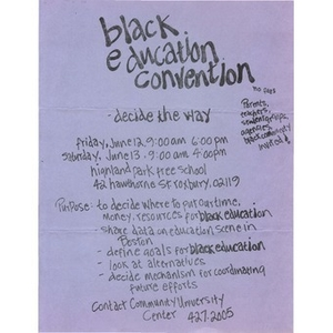 Black Education Convention.