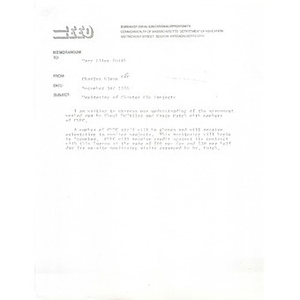 Memo, Monitoring of Chapter 636 projects, December 3, 1976.
