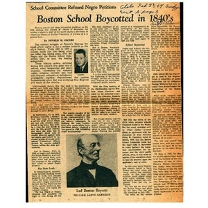 Boston school boycotted in 1840s.