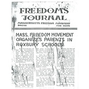 Mass freedom movement organizes parents in Roxbury schools.