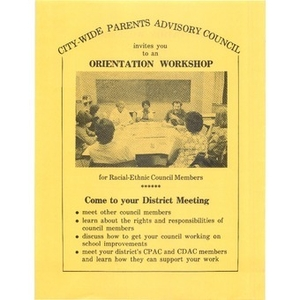 Citywide Parents' Advisory Council invites you to an orientation workshop.