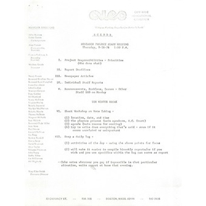 Citywide Educational Coalition research agenda project meeting, September 16, 1976.