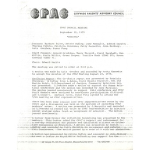 CPAC council meeting September 12, 1979.