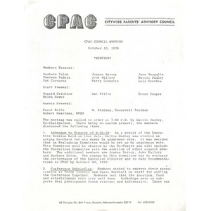 CPAC council meeting October 10, 1979.