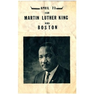 "Program for ""Martin Luther King and Boston"" march."