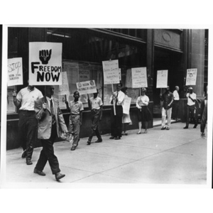 NAACP pickets School Committee.