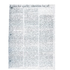 A plea for quality education for all.