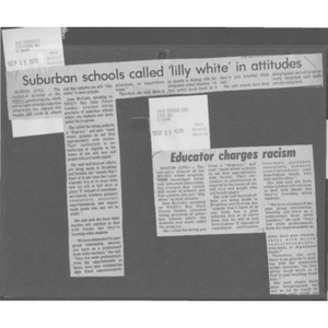 Accusations of racism in suburban schools.