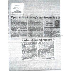 Open school policy's no dream; it's an out-and-out nightmare.
