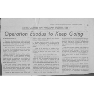 Operation Exodus to keep going.