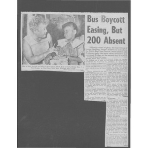 Bus boycott easing, but 200 absent.