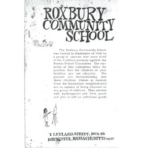 Roxbury Community School.
